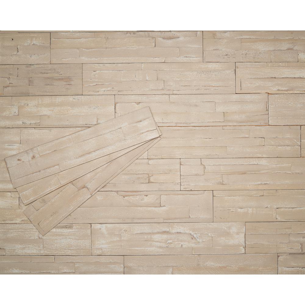 3/8 in. x 4-7/8 in. x 23-5/8 in. Safari Prefinished Wood Peel and Press Wall Panel