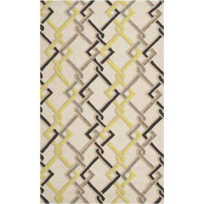 Sutai Ivory 9 ft. x 12 ft. Indoor/Outdoor Area Rug