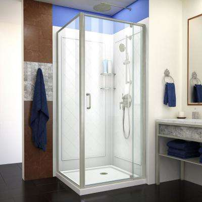 Corner 32 Shower Stalls Kits