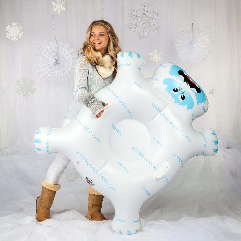 BigMouth Inc. 47 in. W Vinyl Inflatable Yeti Snow Tube, Multi