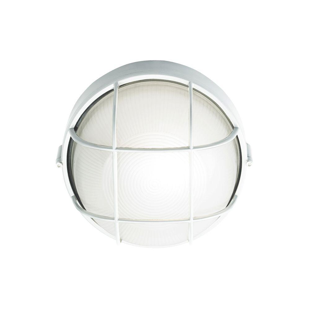 LBL Lighting Wall-Mount Outdoor White Bulkhead Light-DISCONTINUED