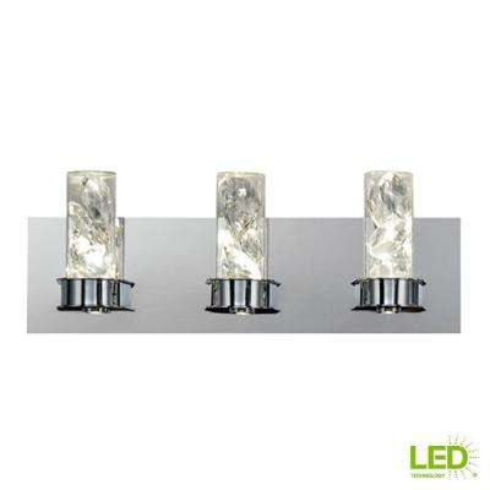 York Collection 23-Watt Crystal Integrated LED Bath Light