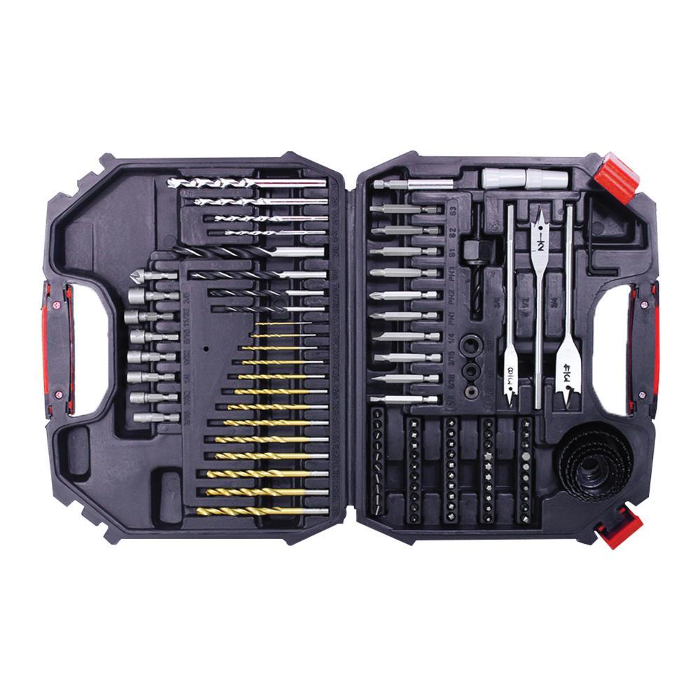 Pack of 4 Titanium Coated Drill Bit Set (104-Piece)