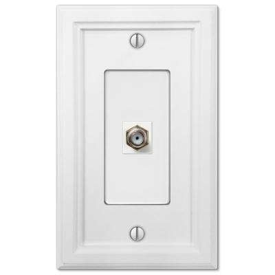 Elly 1 Coax Wall Plate, White