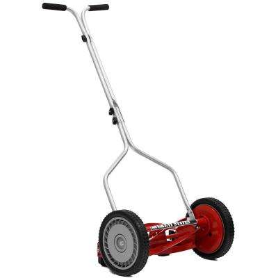 14 in. Manual Push Walk-Behind Non-Electric Reel Lawn Mower