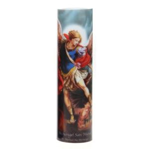 8 in. St. Michael LED Prayer Candle