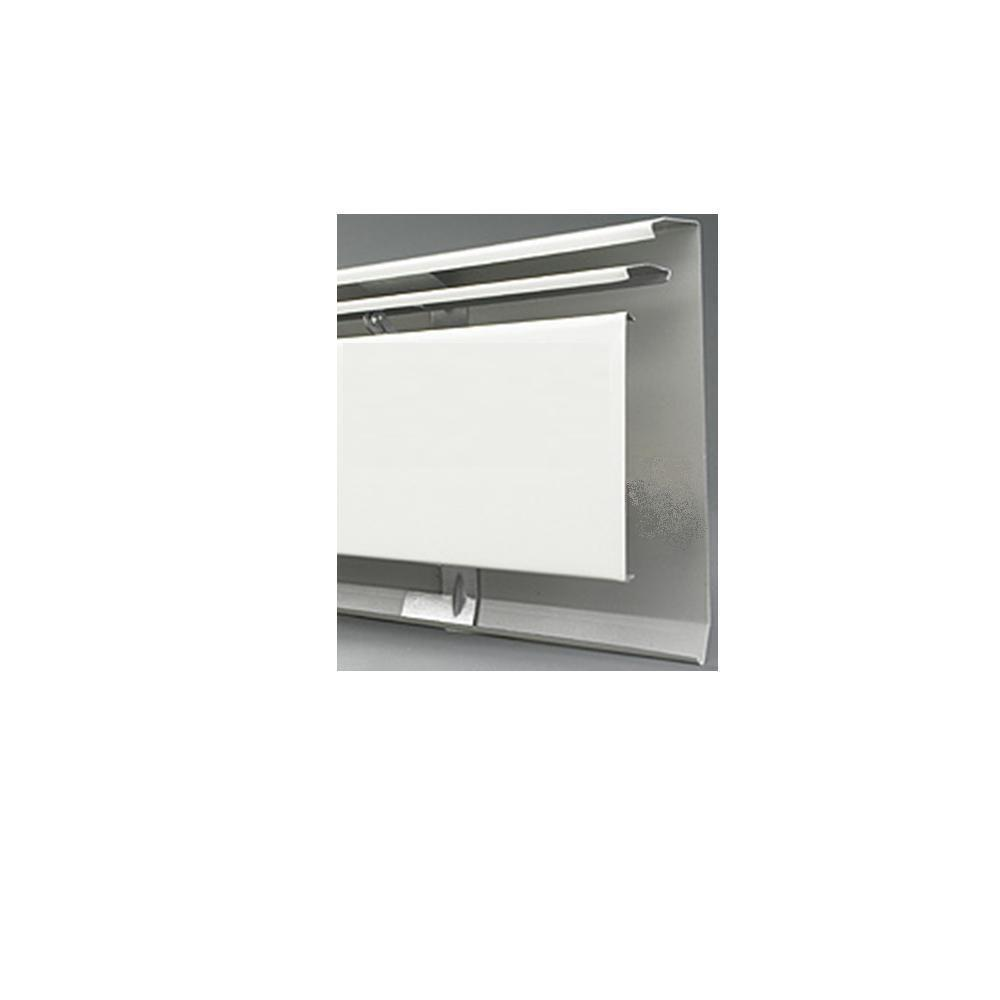 Fine/Line 30 7 ft. Hydronic Baseboard Heating Enclosure Only in Nu-White