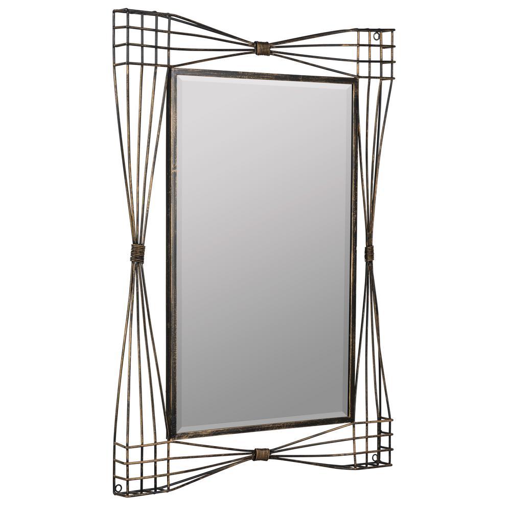 Jules Gold and Espresso Decorative Mirror
