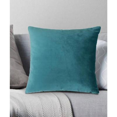 Venetian Velvet Decorative Pillow 18x18 Teal Blue