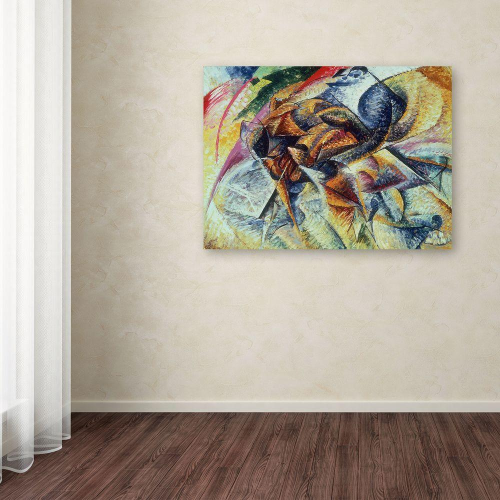 18 in. x 24 in. Dynamism of a Cyclist Canvas Art