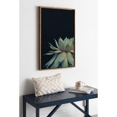 """Sylvie """"Succulent 8"""" by F2 Images Framed Canvas Wall Art"""