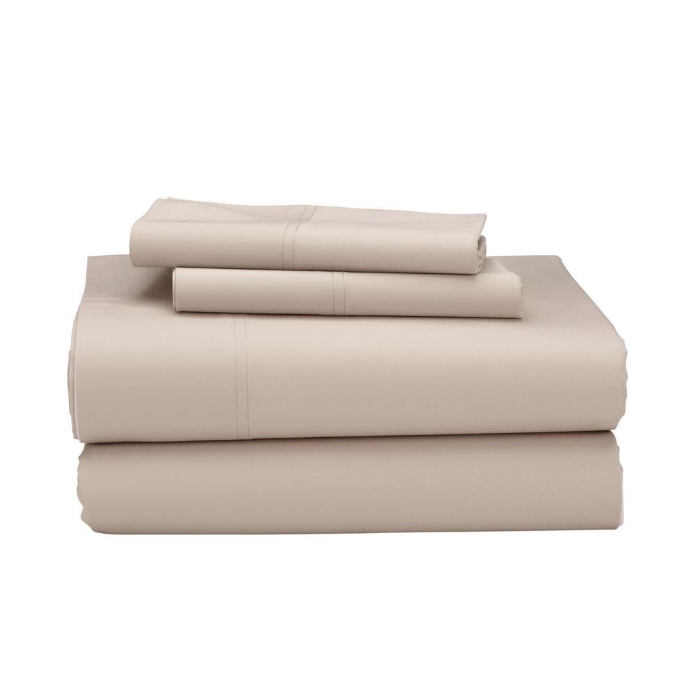4-Piece 300 Thread Count Bamboo Cotton Sheet Set