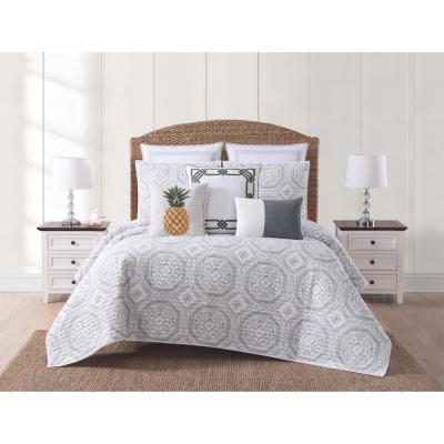 Sunwashed Isle Gray Twin XL Quilt Set