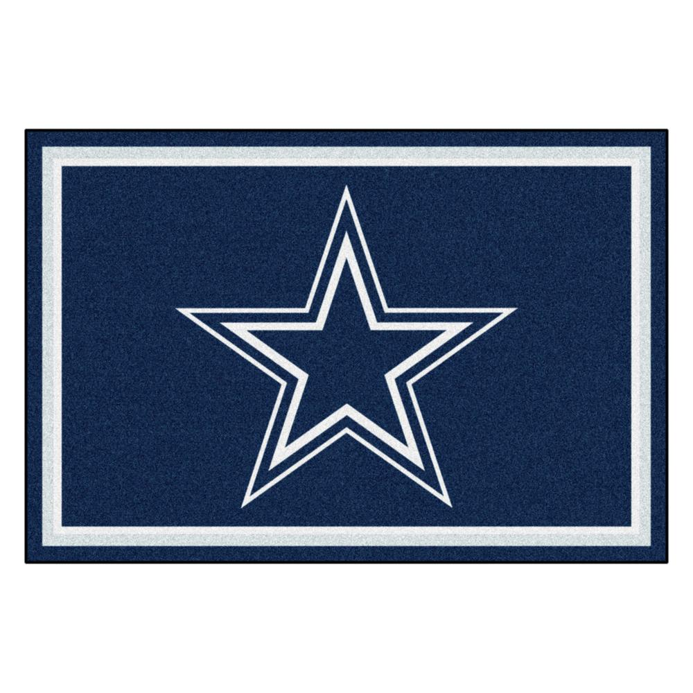 FANMATS Dallas Cowboys 5 ft. x 8 ft. Area Rug-6269 - The Home Depot dfd686a1f