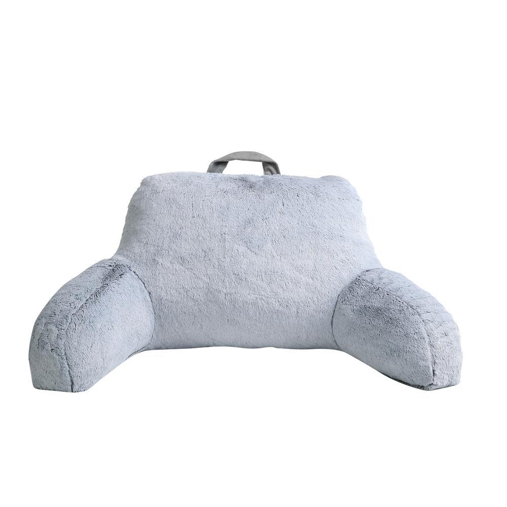 Morgan Home Millburn Grey Faux Fur Backrest