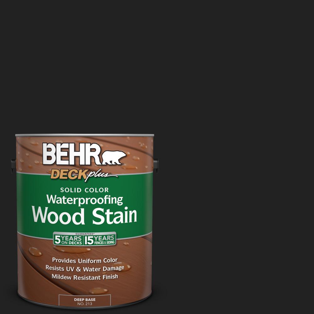 BEHR DECKplus 1 gal. #SC-102 Slate Solid Color Waterproofing Wood Stain