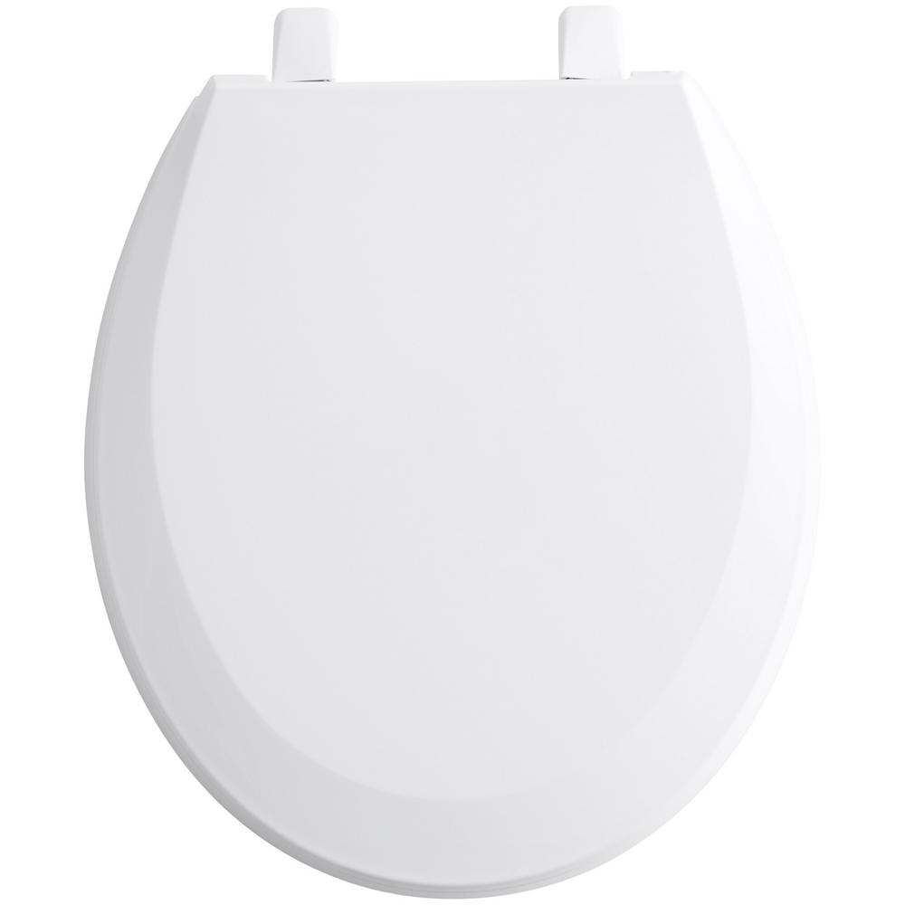 Magnificent Kohler Lustra Round Closed Front Toilet Seat With Quick Release Hinges In White Ncnpc Chair Design For Home Ncnpcorg