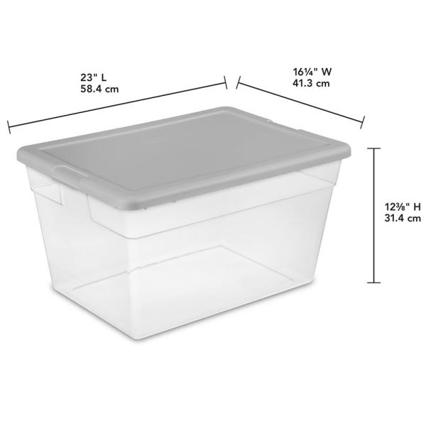 Sterilite 56 Qt. Storage Box-16596A08 - The Home Depot