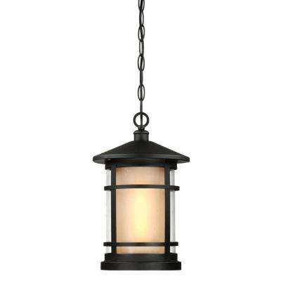 Albright Textured Black 1-Light Outdoor Hanging Pendant