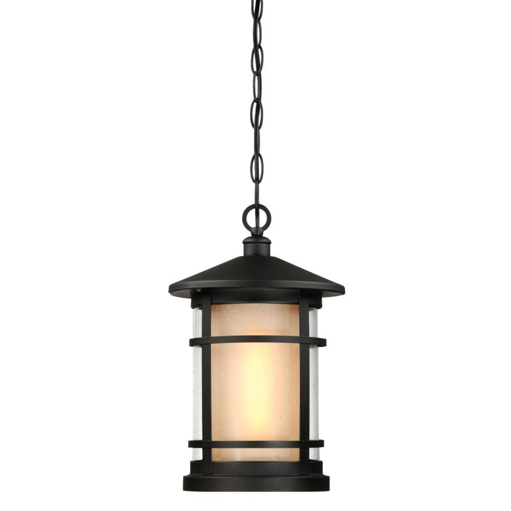 Westinghouse Albright Textured Black 1-Light Outdoor Hanging Pendant