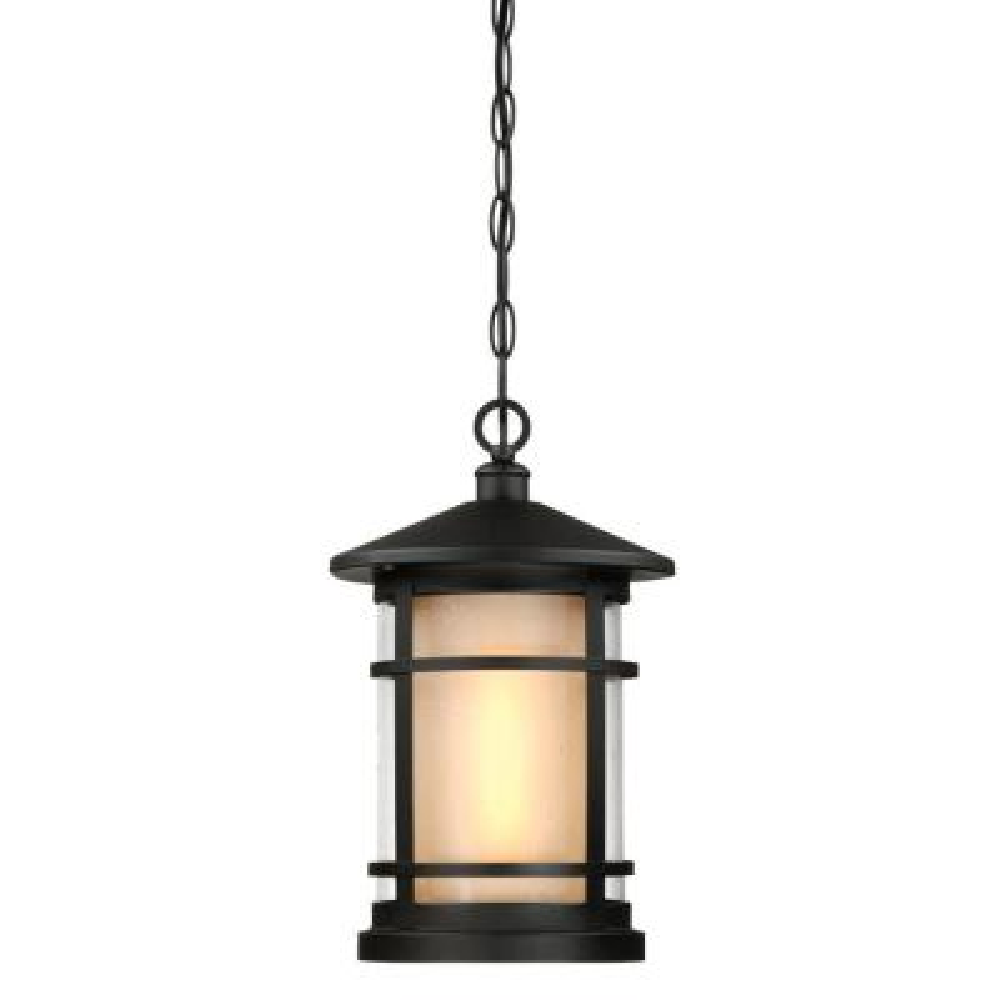 Albright Textured Black 1-Light Outdoor Hanging Pendant