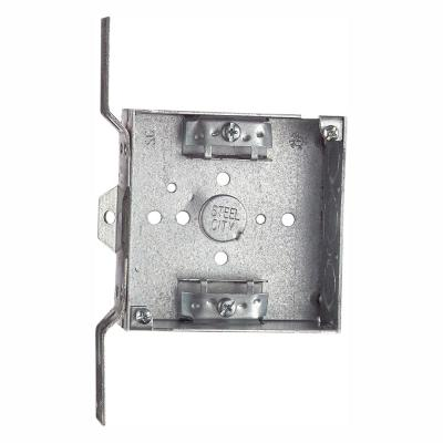 2-Gang 4 in. Metal Square Electrical Box (Case of 25)