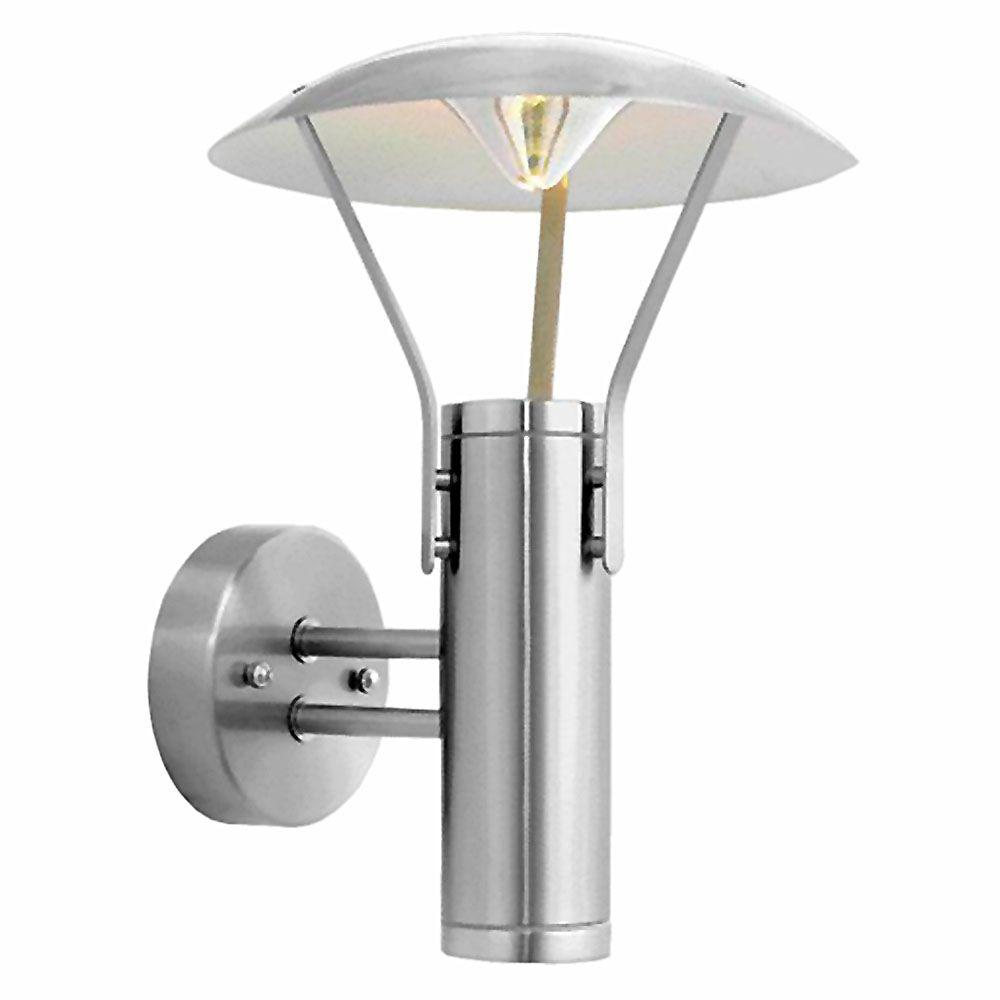 EGLO Roofus 2-Light Stainless Steel Outdoor Wall-Mount