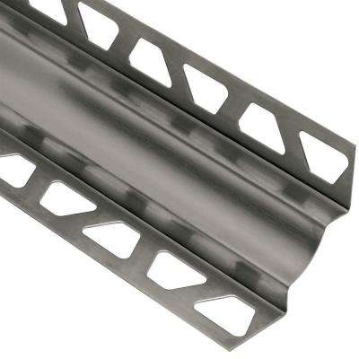 Dilex-EHK Stainless Steel 7/16 in. x 8 ft. 2-1/2 in. Metal Cove-Shaped Tile Edging Trim
