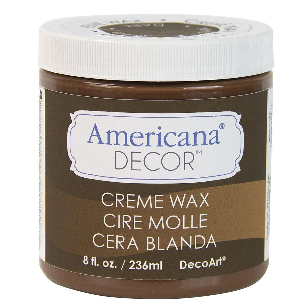 DecoArt Americana Decor 8 oz. Deep Brown Creme Wax