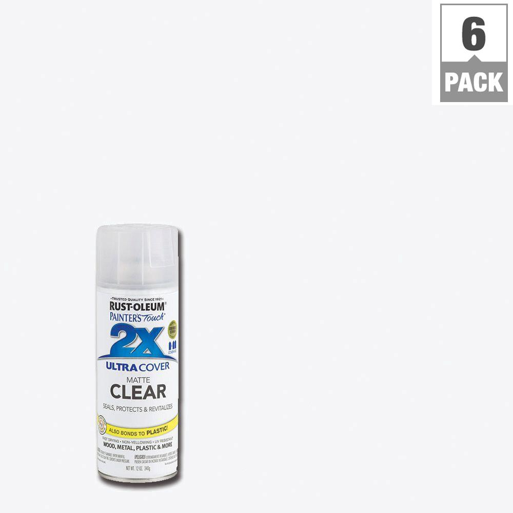 12 oz. Flat Matte Clear General Purpose Spray Paint (6-Pack)