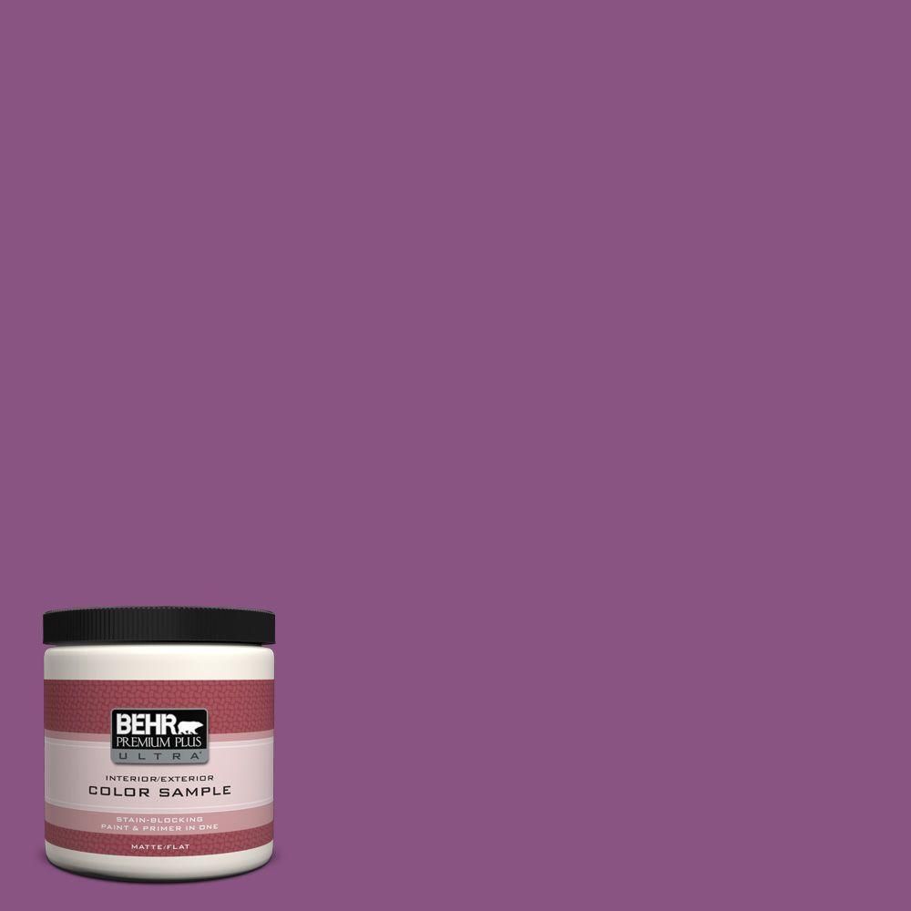 BEHR Premium Plus Ultra Home Decorators Collection 8 oz. #HDC-MD-07 Dynamic Magenta Flat Interior/Exterior Paint and Primer in One Sample