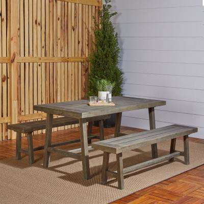 Renaissance 3-Piece Wood Outdoor Dining Set