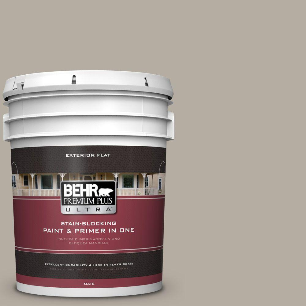 BEHR Premium Plus Ultra 5-gal. #PPU18-13 Perfect Taupe Flat Exterior Paint