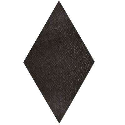 Rhombus Black 5-1/2 in. x 9-1/2 in. Porcelain Floor and Wall Tile (11.68 sq. ft. / case)