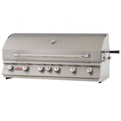 Diablo 46 in. 6-Burner Built-In Natural Gas Grill in Stainless Steet BBQ Grill Head