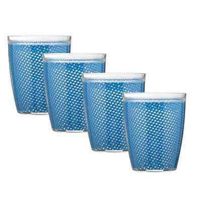 Fishnet 14 oz. Process Blue Insulated Drinkware (Set of 4)