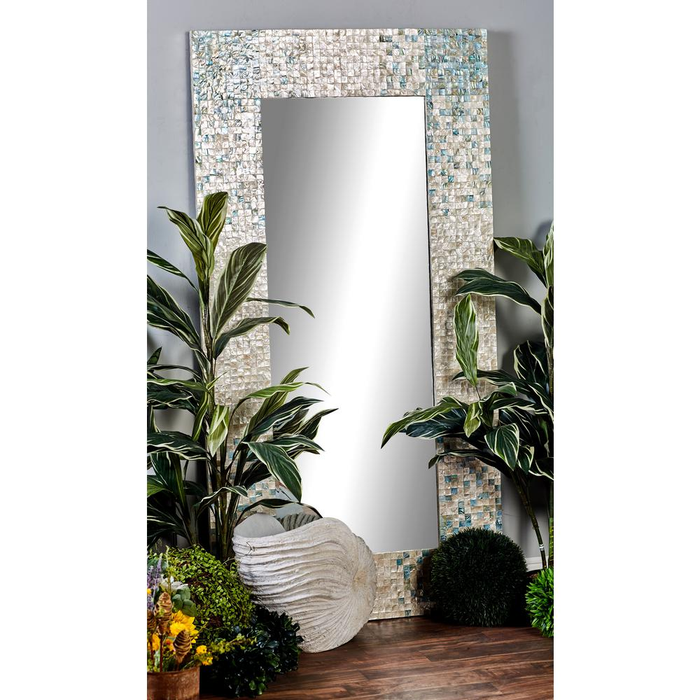 Litton Lane 71 In X 36 Rectangular White Door Wall Mirror With