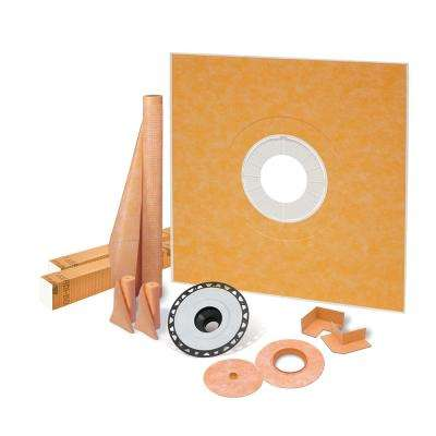 Kerdi-Shower-Kit 72 in. x 72 in. Shower Kit with ABS Flange
