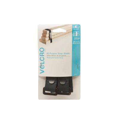 27 in. x 1 in. All Purpose Elastic Strap (2-Pack)