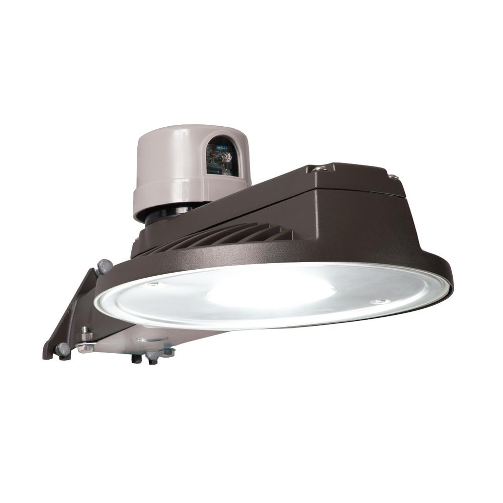 Halo Halo Bronze Outdoor Integrated LED Dusk to Dawn Area Light with Built-In Photocell Sensor