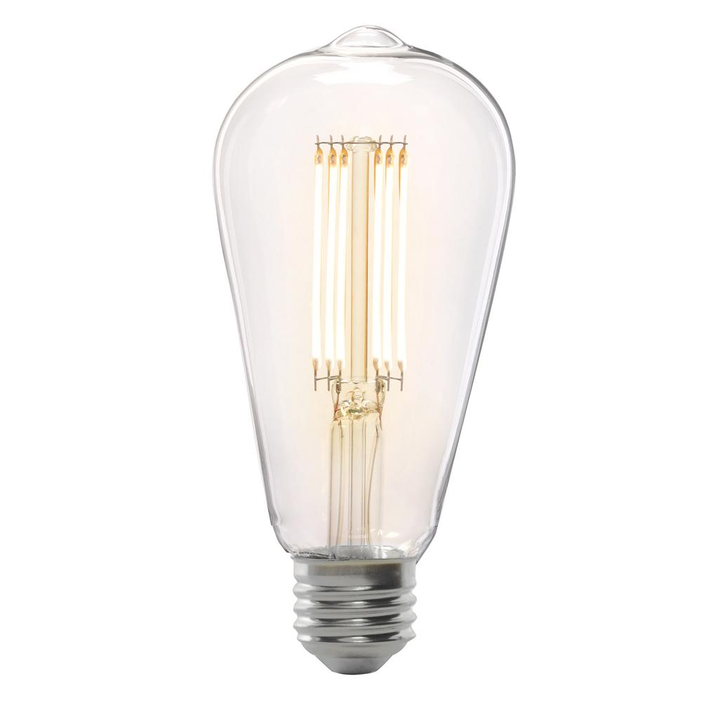 Feit Electric 75 Watt Equivalent St19 Dimmable Led Clear Gl Vintage Edison Light Bulb With Cage Filament Soft White
