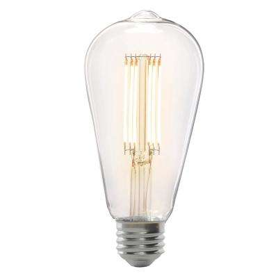 75-Watt Equivalent ST19 Dimmable LED Clear Glass Vintage Edison Light Bulb With Cage Filament Soft White