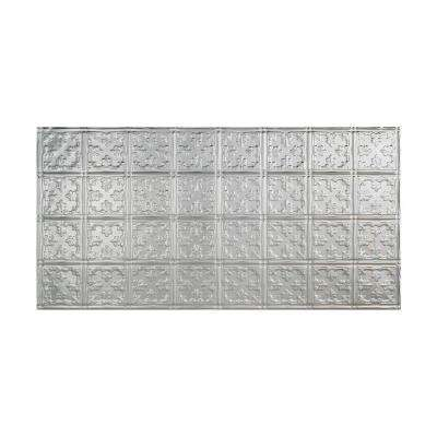 Traditional 10 - 2 ft. x 4 ft. Glue-up Ceiling Tile in Brushed Aluminum
