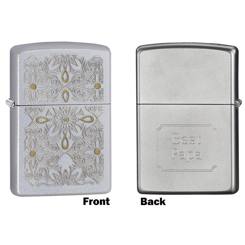 Zippo Classical Curve Satin Chrome Father