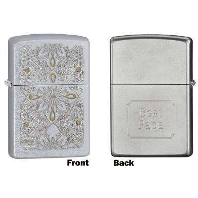 Zippo Classical Curve Satin Chrome Father's Day Lighter