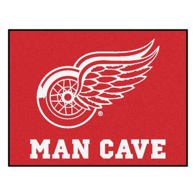 Detroit Red Wings Red Man Cave 3 ft. x 4 ft. Area Rug
