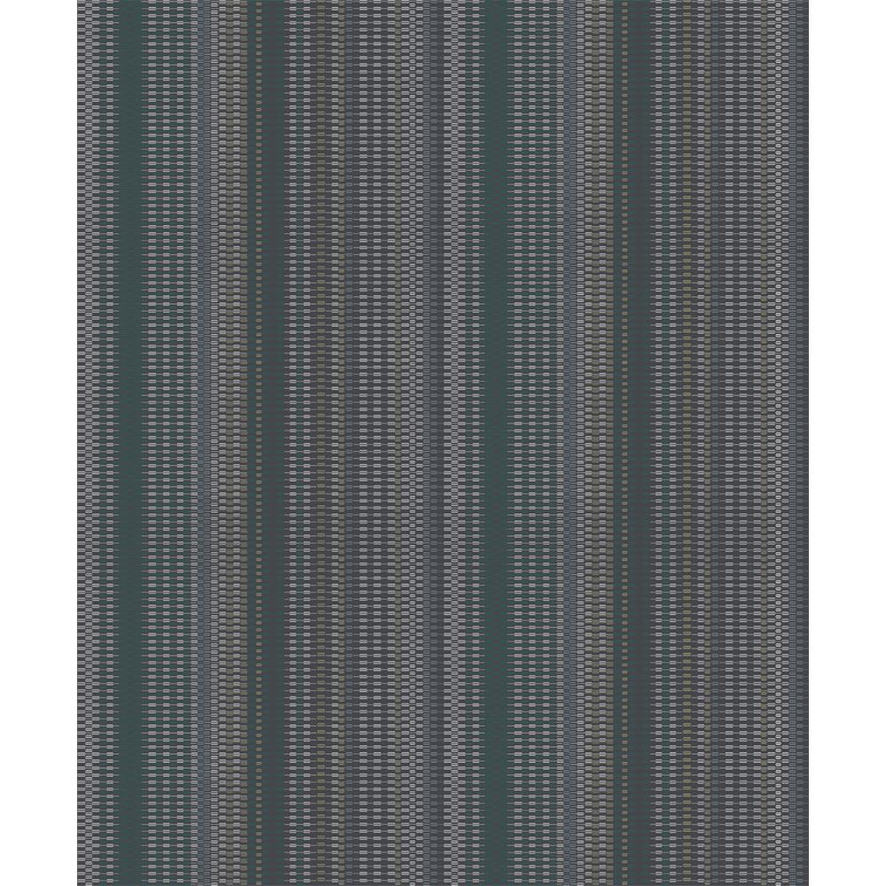 Advantage 8 in. x 10 in. Morgen Navy Stripe Wallpaper Sample