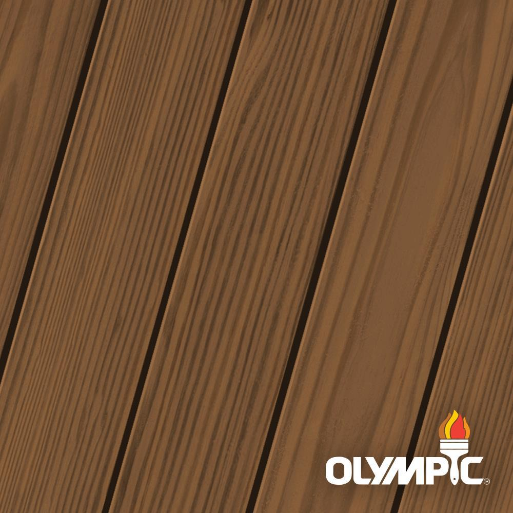 Olympic Elite 1 Gal. Chestnut Brown Semi-Solid Exterior Wood Stain and Sealant in One