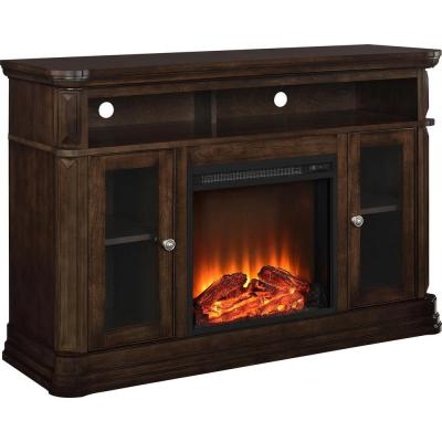 Ventura 47 in. Espresso Particle Board TV Stand Fits TVs Up to 50 in. with Electric Fireplace