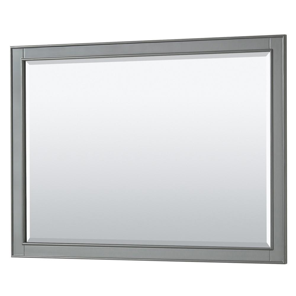 Deborah 46 in. W x 33 in. H Framed Wall Mirror in Dark Gray